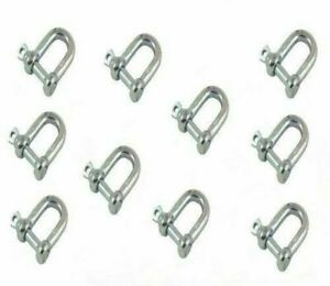 10-Carbine-Gourd-Spring-Strong-Clip-Snap-Hook-D-Shackle-Climbing-Hiking-Key-Clip