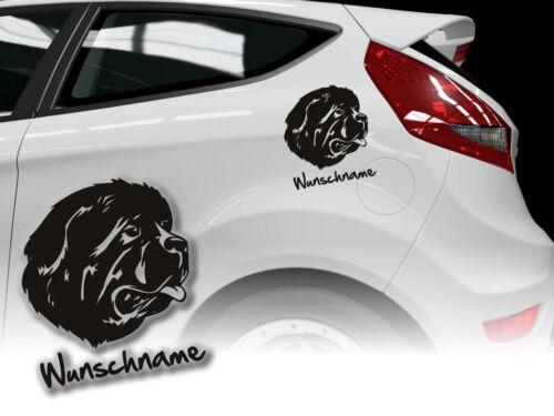Aufkleber Newfoundland Neufundländer H300 Wunschname Auto