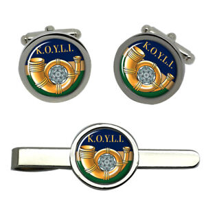 King-039-s-Own-Yorkshire-Light-Infantry-British-Army-Cufflinks-and-Tie-Clip-Set