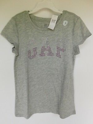 NWT GAP Girl/'s Green Embellished Arch Logo T-Shirt S M L Free Ship MSRP$20 New