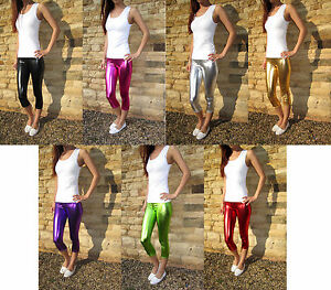 3-4-Length-Leggings-Ultrashine-Stretch-Spandex-Summer-Size-6-8-10-12-14-16-18