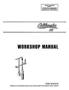 moto guzzi service manual california ii ebay rh ebay ie moto guzzi california 1400 service manual moto guzzi california 1400 service manual