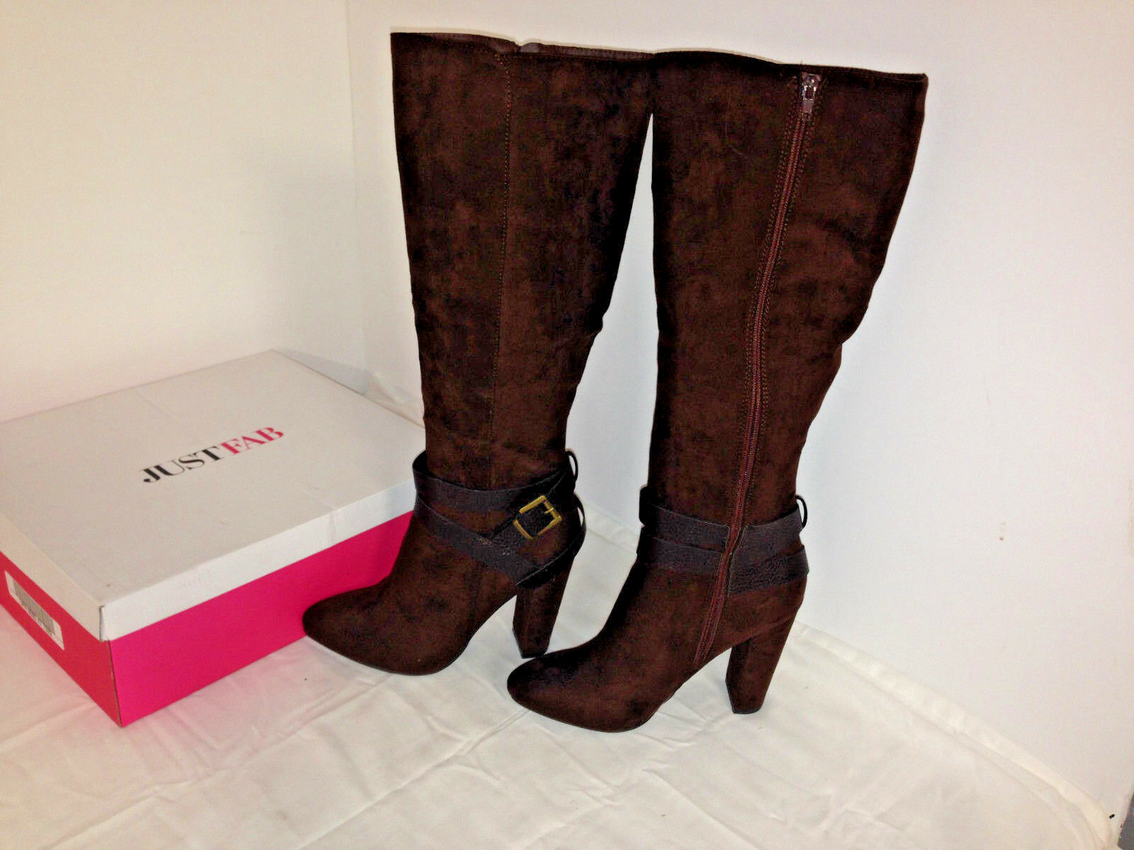 Women's ~Just Fab DOSHA Knee High Boots - Color Tobacco~ Size 8.5