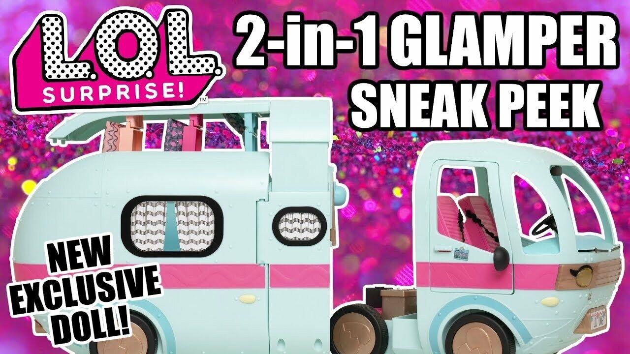LOL Surprise  glamper 2 IN 1 EXCLUSIVE bambola 55 sorprese autoavan roulotte camper  spedizione veloce e miglior servizio