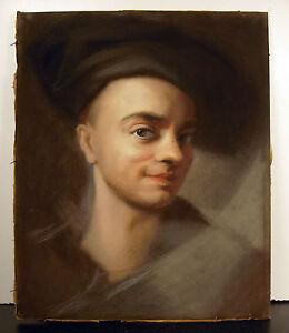 D'après Maurice-quentin De La Tour Autoportrait Au Pastel Xix ème Pi J A Degrave Avoir Un Style National Unique