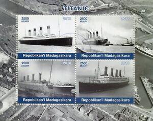 Madagascar 2018 CTO Titanic 4v M/S Boats Ships Nautical Stamps