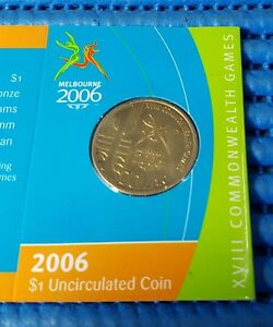 2006-Australia-1-Uncirculated-Coin-Melbourne-Commonwealth-Games-039-M-039-Mint-Mark