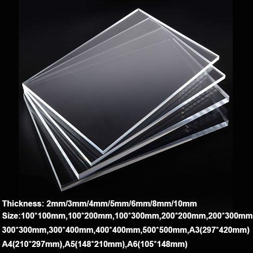 Black Acrylic Perspex Plastic Plexiglass 210mm x 300mm x 3mm One A4 Sheet 1