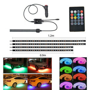 4X-90-120cm-LED-Neon-Strip-Light-Kit-Under-Car-Tube-Underglow-Atmosphere-12W
