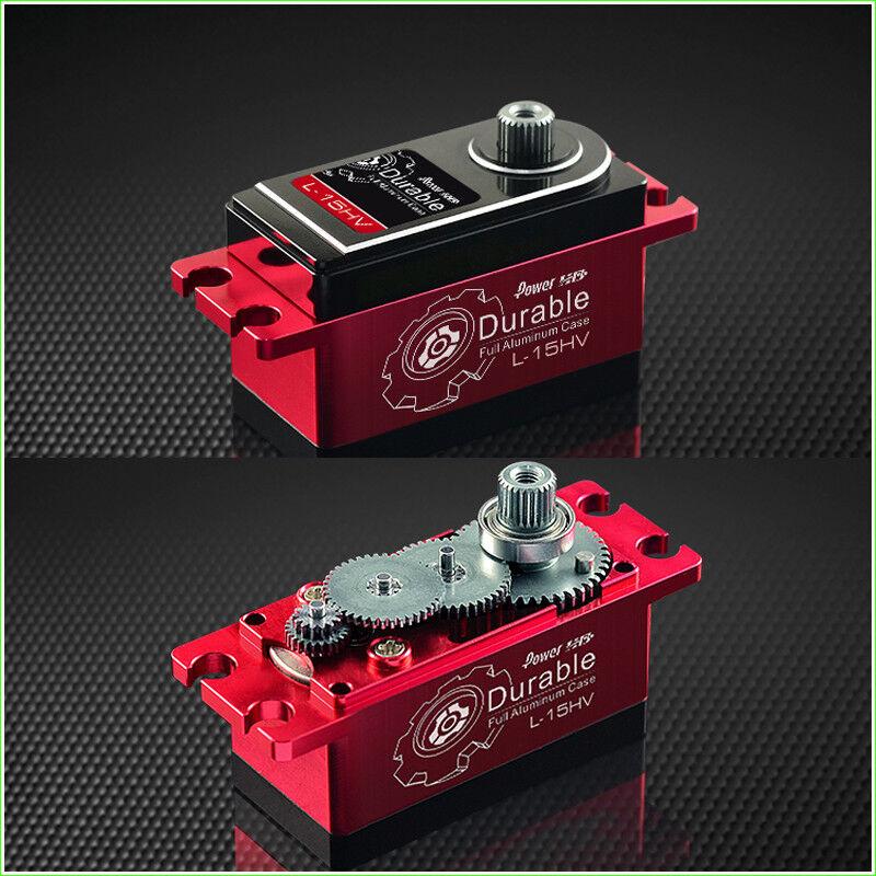 Power HD L-15HV Aishen corto Full Metal Cuerpo Digital Servo Aceite Eléctrico en movimiento