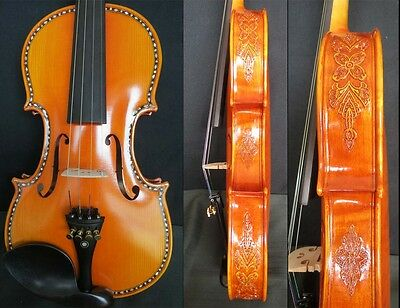 Strad carving SONG Brand maestro 4/4 violin,carved rib great sound #10461