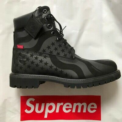 Deadstock * SUPREME X Timberland Stars And Stripes BLACK 9 5 Size