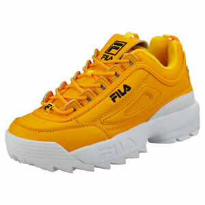 fila trainers disruptor yellow