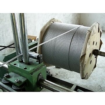6MM  FLEXIBLE  7//19  STAINLESS 316  WIRE ROPE