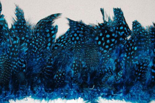 "30/"" GUINEA FRINGE BLUE Feathers 3-6/"" Craft//Pads//Hats"