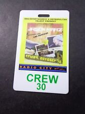 !  JASON MRAZ-RADIO CITY-CONCERT BACKSTAGE PASS-LAMINATE