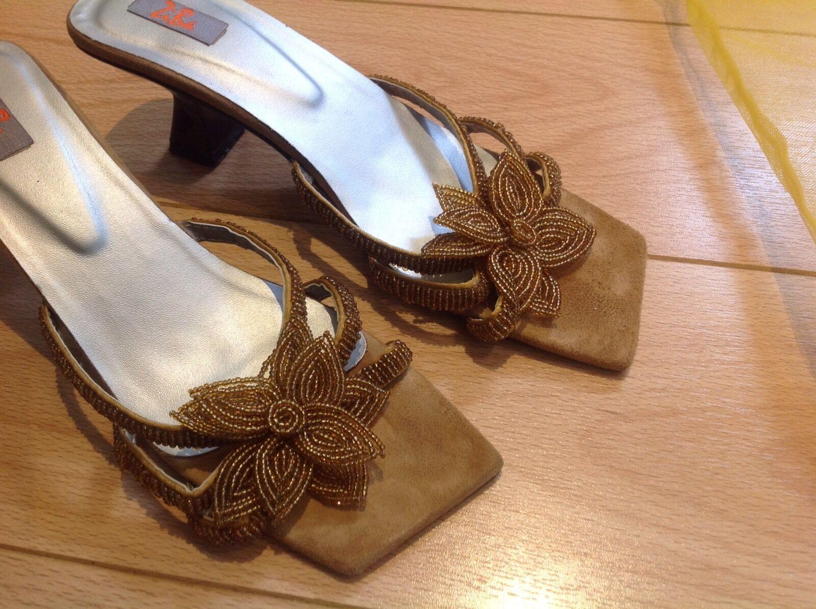 Beaded Evening Sandals