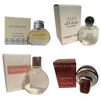 Ladies Miniature Perfume Gift Travel X4 Bvlgari Burberry Armani Dkny Pure
