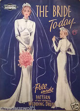 Vintage 30's/40's WELDONS WEDDING/EVENING DRESS*Fishtail*Mermaid*Sewing Pattern