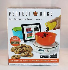 perfect bake smart scale and recipe app cook tool white