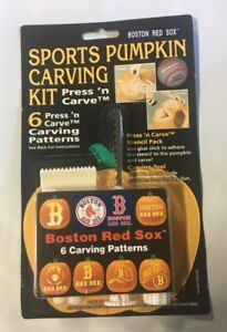 Boston Red Sox Pumpkin Carving Kit Halloween Stencils For Jack O
