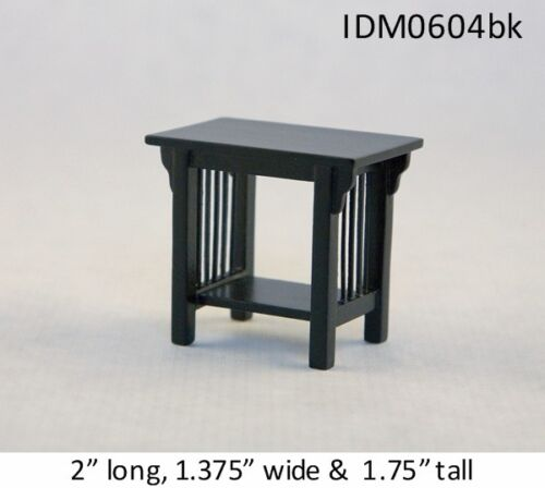 MISSION STYLE END TABLE 1:12 SCALE DOLLHOUSE MINIATURES Heirloom Collection