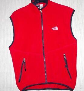 c699da409 Details about The North Face Red Fleece Sleeveless Zip Vest Jacket Men's  Size:L
