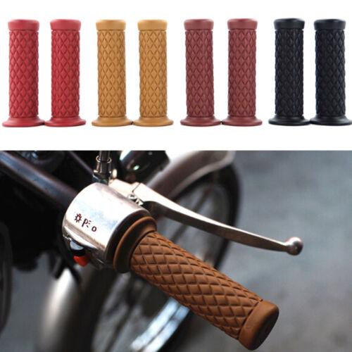 2Pcs 22mm rubber handlebar hand grip bar end for motorcycle bike cafe racer PB