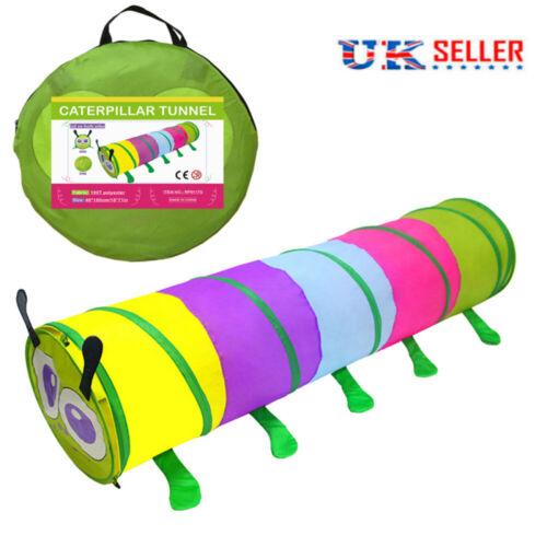 Colorful Kids Play Crawl Tunnel Tent Children Garden Park Game Indoor Outdoor