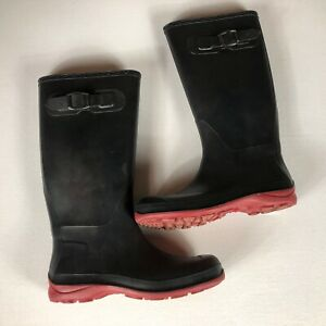 Kamik Rubber Boots Womens SZ 7 Made In Canada Water Rain Ladies Black Shoes