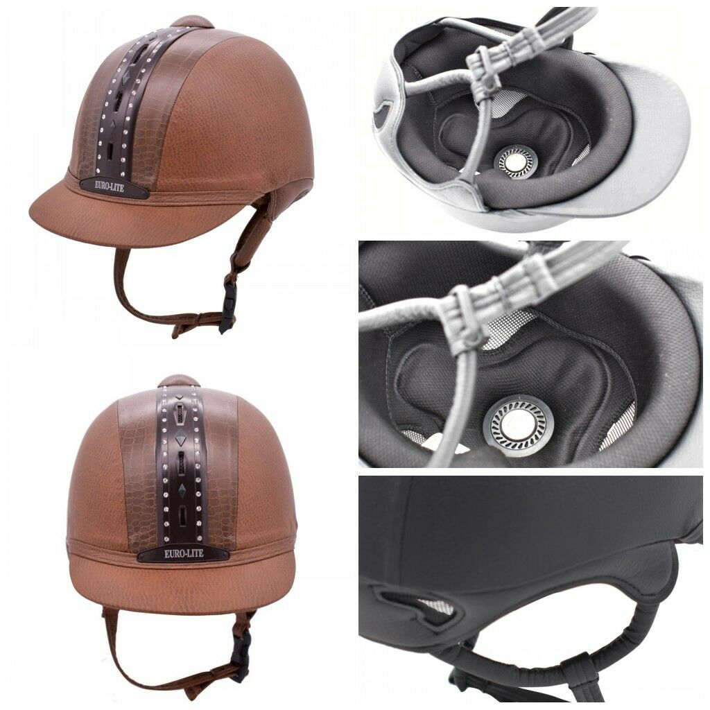 Junior Horse Riding Helmet Equestrian Safety Hat Prossoective Gear Patent Leather