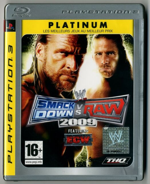 JEU PS3 ★ SMACK DOWN VS RAW 2009 ★ COMPLET ★ SONY PLAYSTATION 3