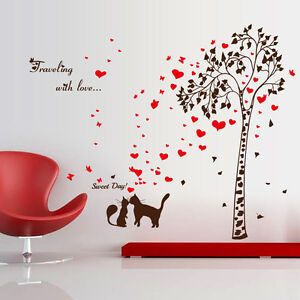 Cat-Lover-Tree-Bedroom-Home-Decor-Removable-Wall-Sticker-Decals-Decoration
