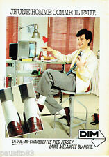 PUBLICITE ADVERTISING 096  1980  Les mi-chaussettes jersey de Dim
