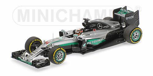 Minichamps F1 Mercedes AMG W07 Lewis Hamilton 1 43 Winner Abu Dhabi GP 2016