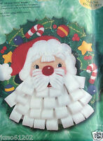 Felt Wreath Kit Bucilla Bearded Santa 18 Sealed