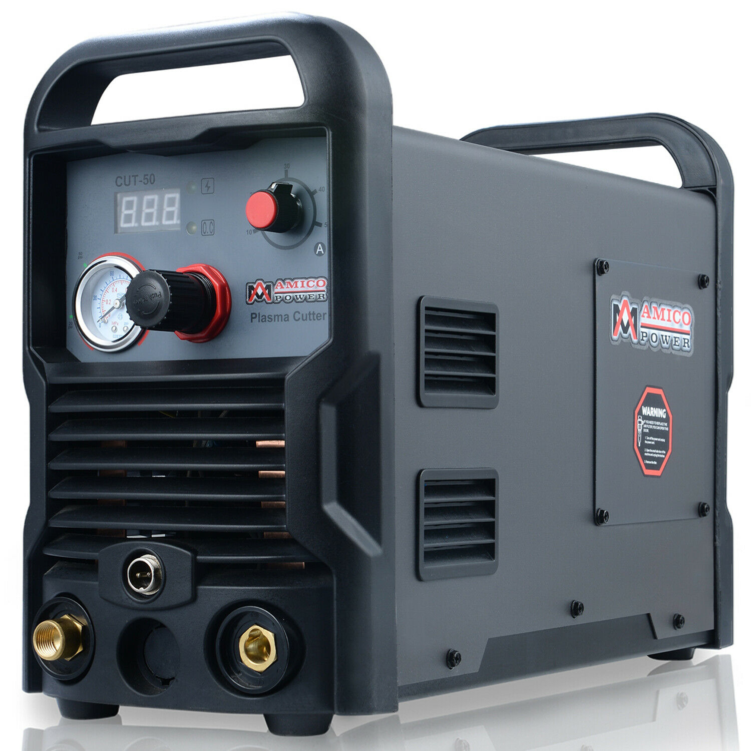 Amico CUT-50, 50 Amp Air Plasma Cutter, 110/230V Dual Voltage Inverter Cutting. Buy it now for 279.00