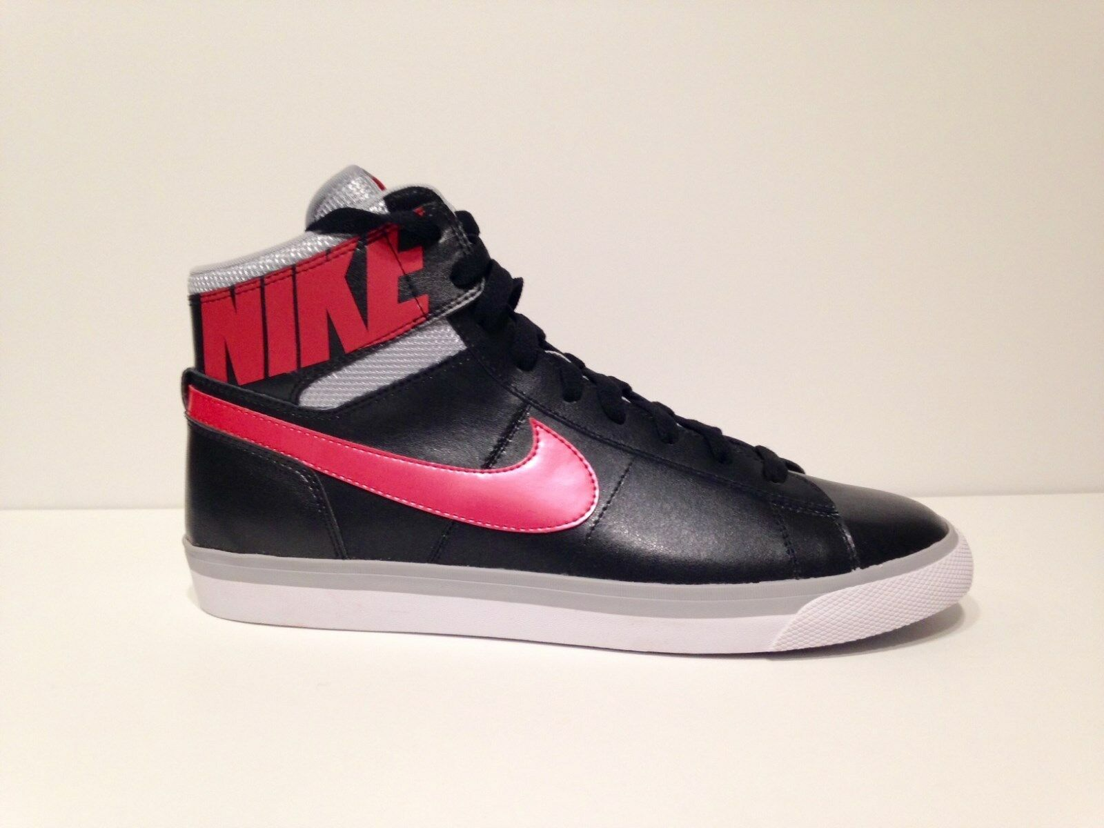 New NIKE WMNS MATCH SUPREME HI Leather Black/Pink shoes Brand discount