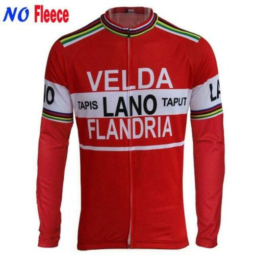 Retro Team 1978 Velda Lano Vintage Cycling Jersey Long Sleeve
