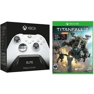 Microsoft Xbox One Elite Platinum White Wireless Controller & Titanfall 2 Bundle
