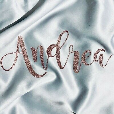IRON ON Personalised Name Hologram Sparkle Text Vinyl TRANSFER Craft Decor Hot