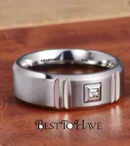 Jewelry & Watches New Boxed Mens 8mm Brushed Titanium Wedding Engagemet Band Ring-unisex