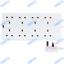 UK-Mains-Extension-Lead-Cables-1-2-3-4-6-8-10-Gang-50cm-20m-Plug-Black-White thumbnail 15