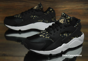 Nike Air Huarache Run Print Black Khaki 725076-007 Women