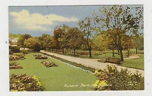 Reinas-Parque-Castleford-antigua-Impresa-TARJETA-POSTAL
