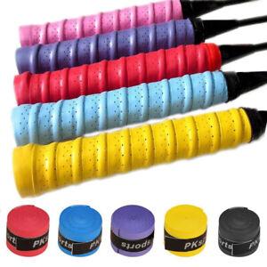 10Pcs Stretchy Anti-slip Tennis//Badminton PU Racquet Handle Over Grip Tape
