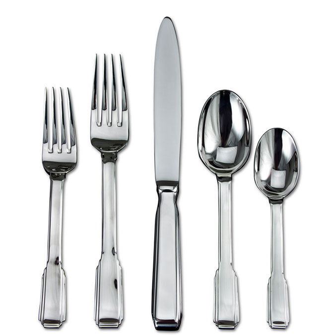 Ricci Art Deco 5pc Flatware Place Setting Setting Setting (Set of 4) 711608