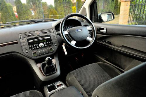 Real Negro Italiano De Cuero Azul Stitch Gear Polaina Ford Focus C-Max 2003-08 Nuevo