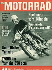 Motorrad 23/69 1969 Yamaha YR-3 350 Zweitakt Yamaha XS-1 650 BMW Motoren