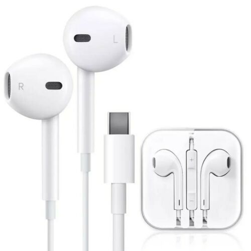 Type C Wired Earphones For Android Desktop Laptop Noise Cancelling Earbuds